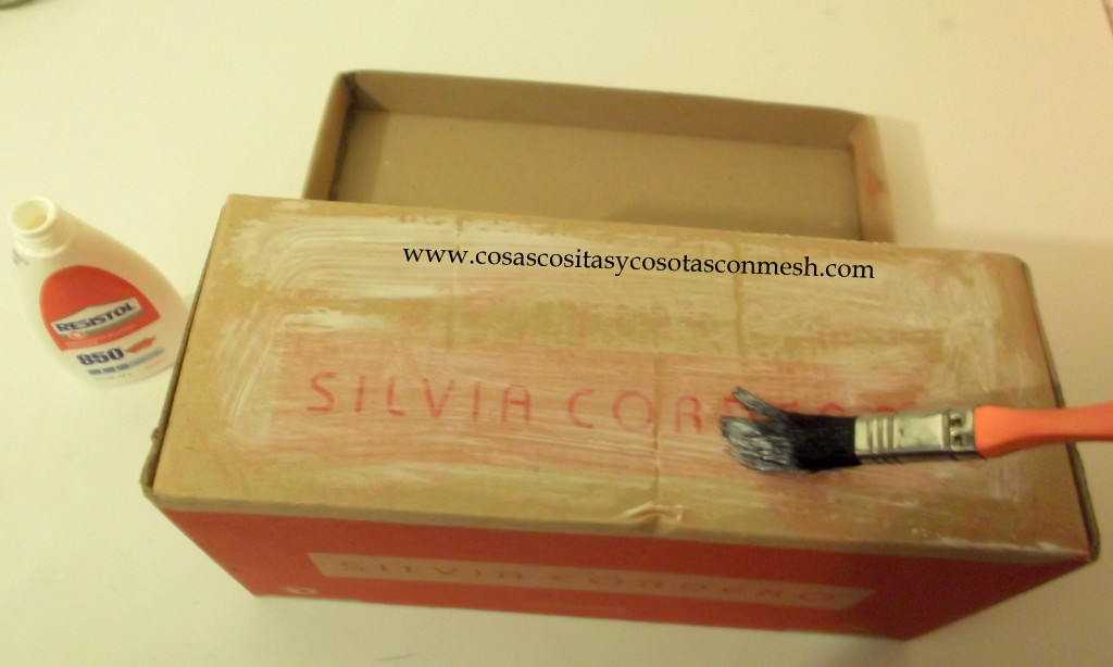 Como decorar una caja de zapato manualidadespauvila e d - Como adornar una caja de zapatos ...