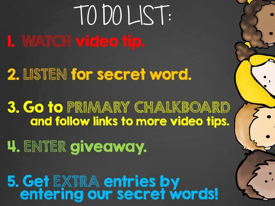 Extra secret word giveaway