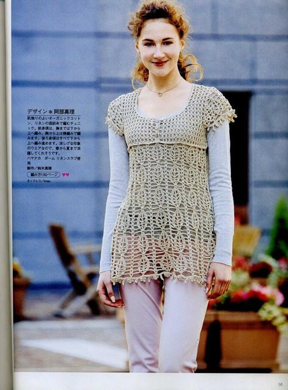 Blusas caladas en crochet con patrones - Imagui