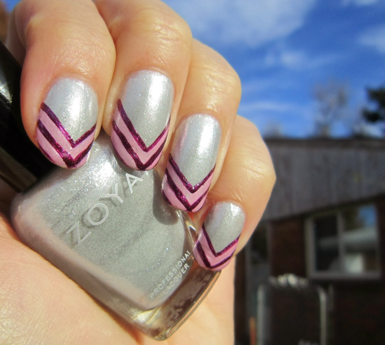 Concrete and Nail Polish: French Manicure