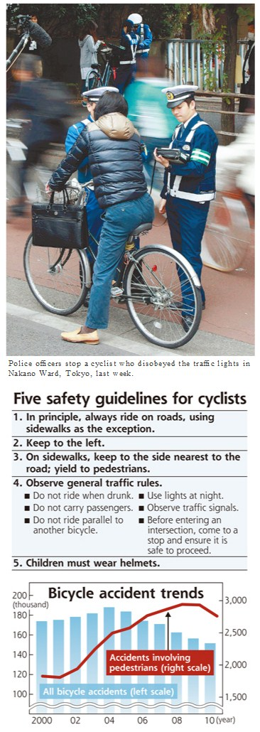 Japanese Cycling Laws, they're more like guidelines