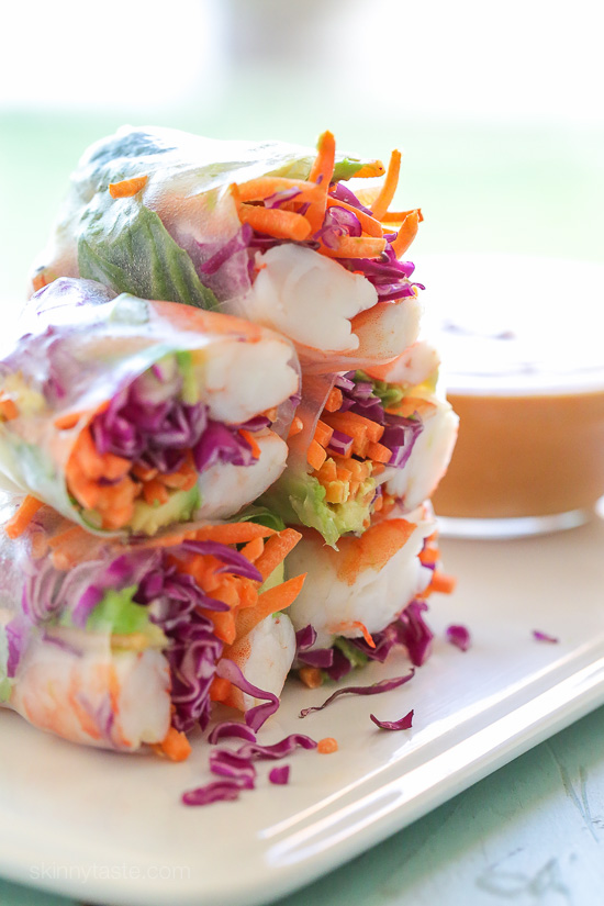 Shrimp Summer Rolls with Peanut Hoisin Dipping Sauce – Love the ...