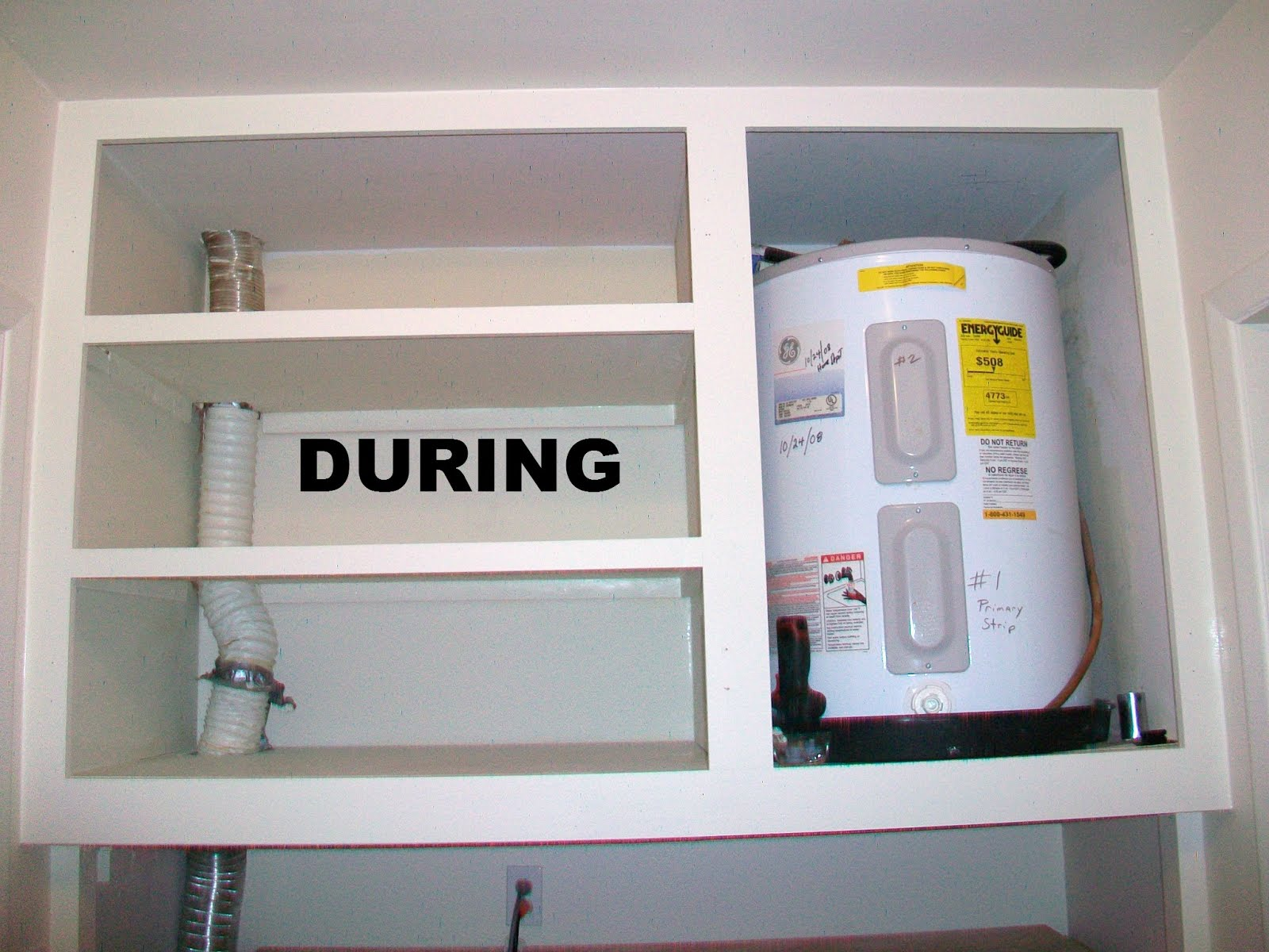 Washer dryer cabinet enclosures