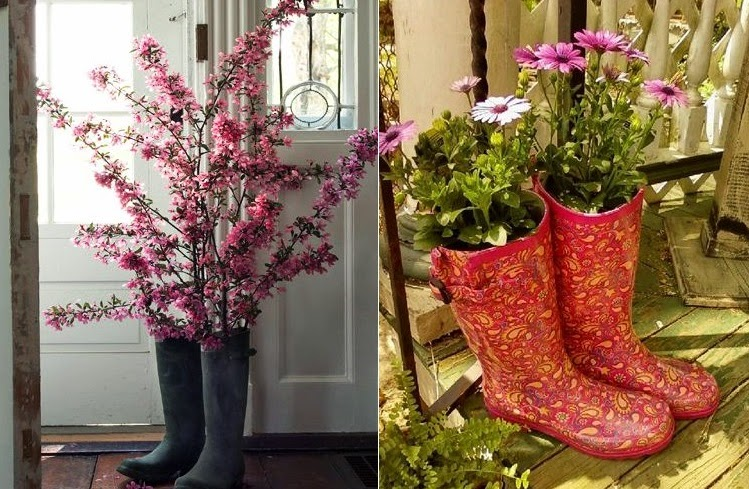 ideias de mini jardim: Ideias – casa e jardim: Botas – como criar um mini jardim