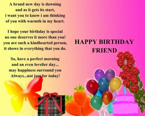 Nice Friend Birthday Quotes