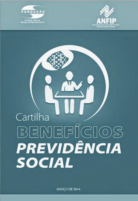 """Cartilha Anfip 2014 """"Benefícios da Previdência Social""""."""