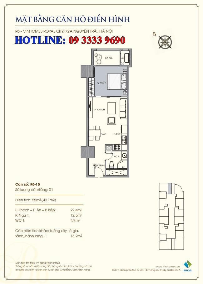 căn hộ royal city r6 - 15