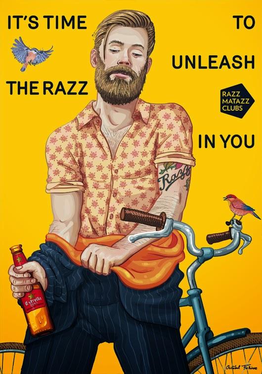 Cartel Razzmatazz por Cristóbal Fortúnez