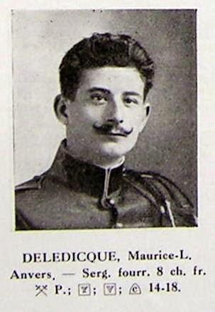 Oud-strijder en vuurkruiser Mauritz Deledicque 1894-1994.