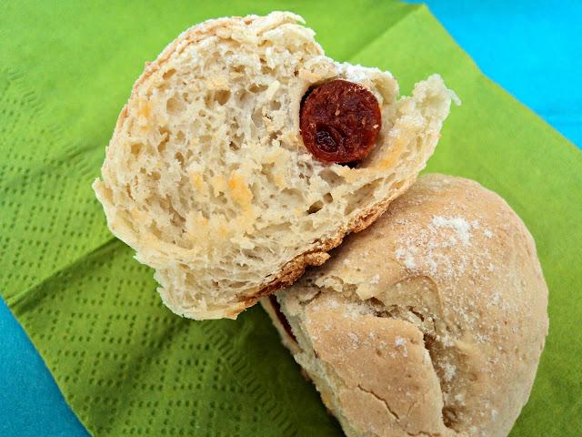 receta casera bollos, pan, chorizo, preñaos