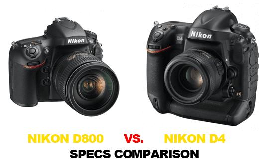 Nikon D4 , nikon D800 , Nikon Comparison