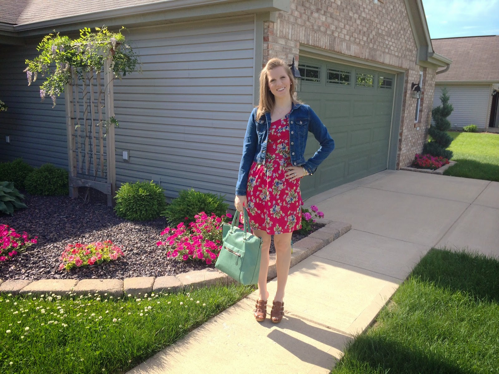 How to style Pink Floral One Shoulder Dress