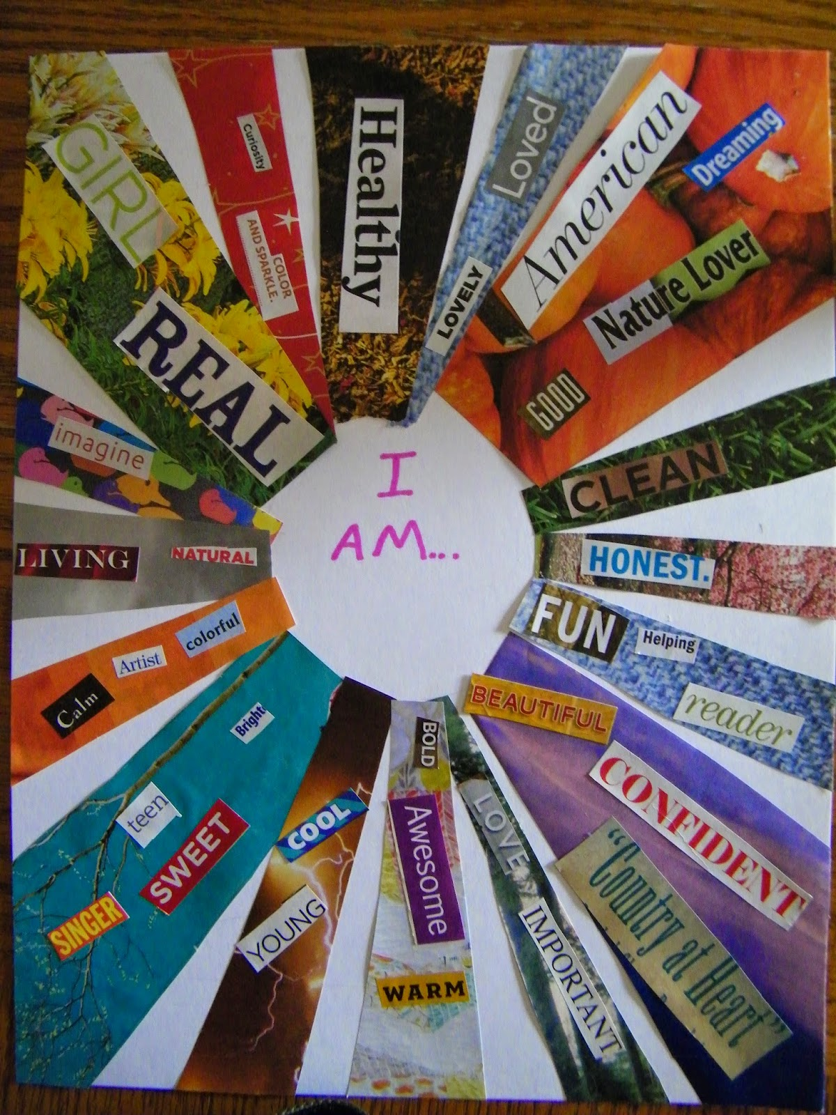 I Am Collage Art Projects on Spring Theme Bulletin Boards