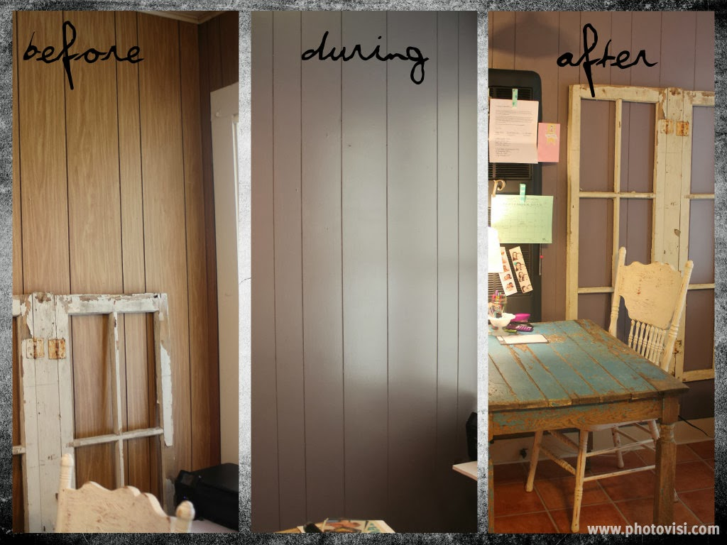 Painted wood paneling before and after 28 images after for Paneling makeover ideas