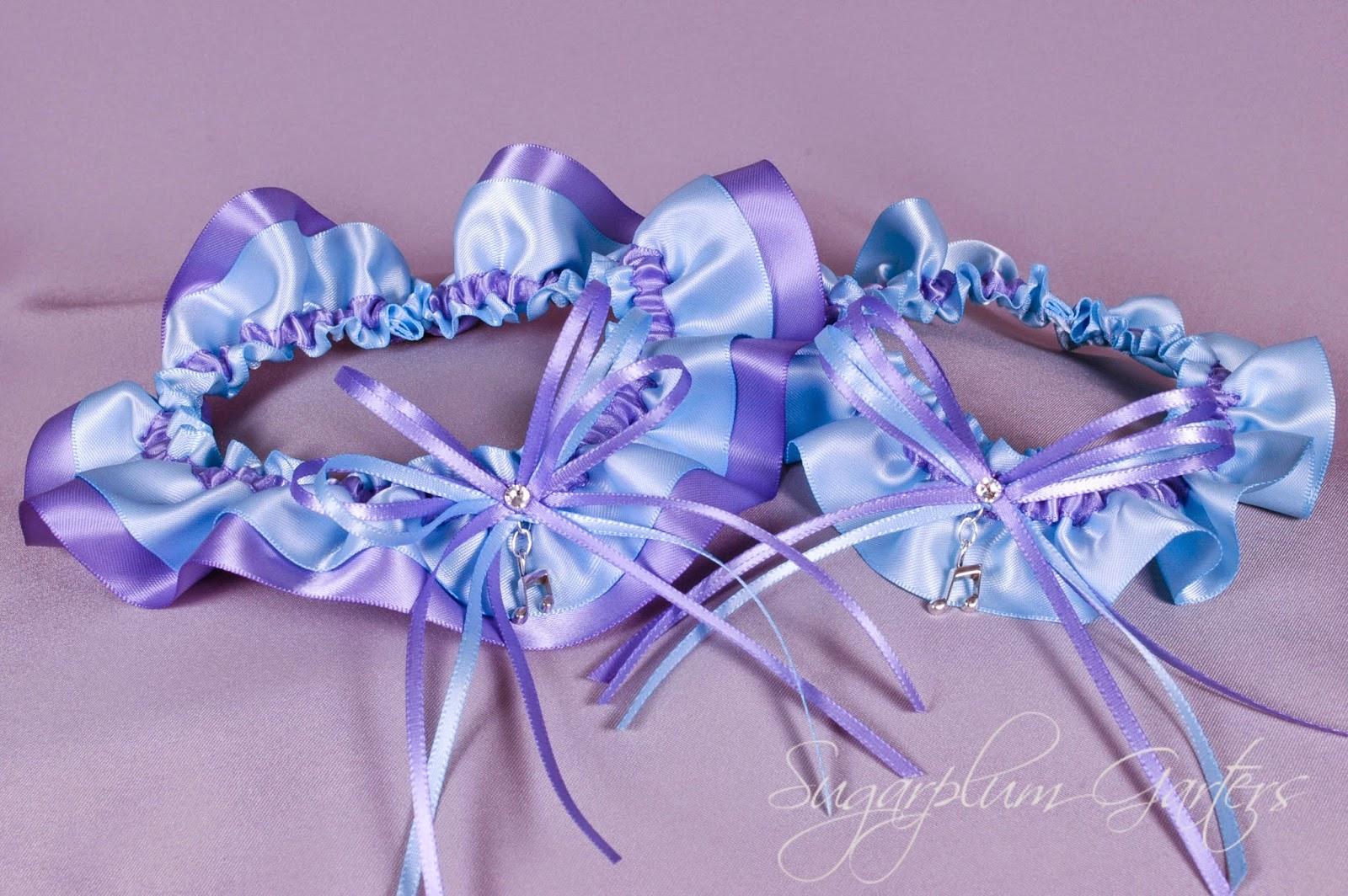 Custom Music Note Wedding Garter Set by Sugarplum Garters