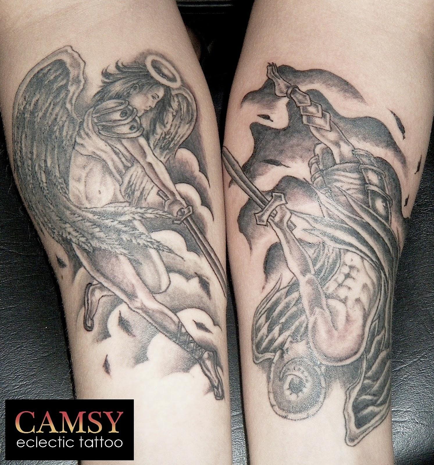 tattooz designs angel devil tattoos designs angel devil tattoos idea. Black Bedroom Furniture Sets. Home Design Ideas