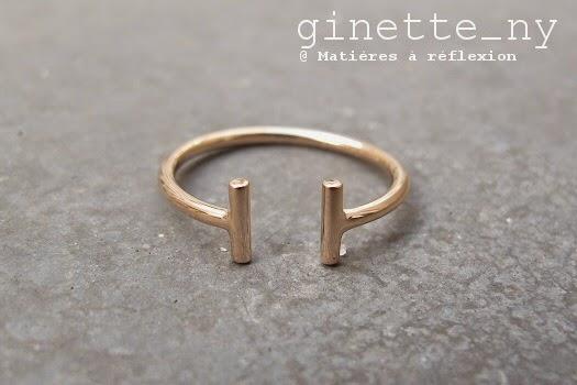 Bague Ginette_NY Gold Strip en or rose