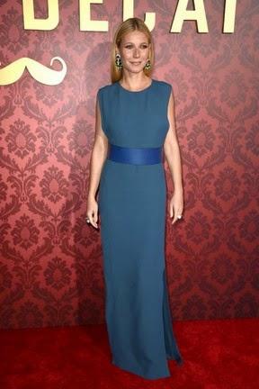 Gwyneth Paltrow dispensou o sutiã para ir a première de filme em Los Angeles
