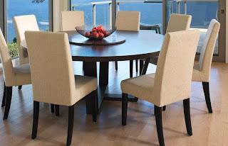 Fotos de comedores comedor 8 sillas for Comedores de madera redondos modernos