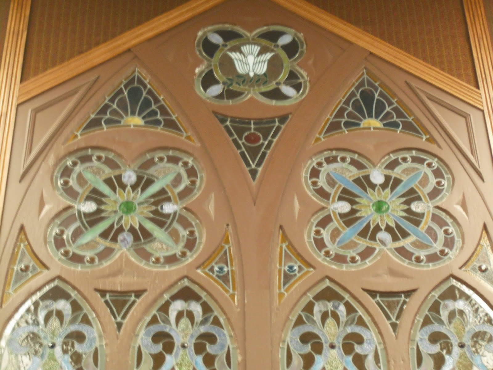 Historic LDS Architecture: Coalville Stake Center: Stained Glass