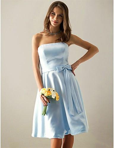 Vestido de Dama de Honor Azul