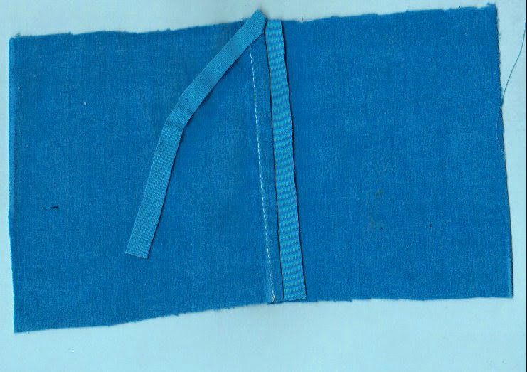 Image shows one side of seam trimmed to 1/4 inch
