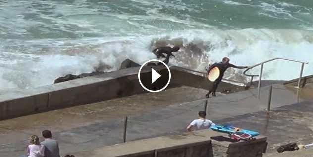 Surf accident in Biarritz - short version