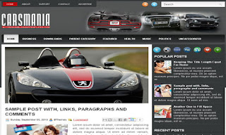 Cars Mania Blogger Template