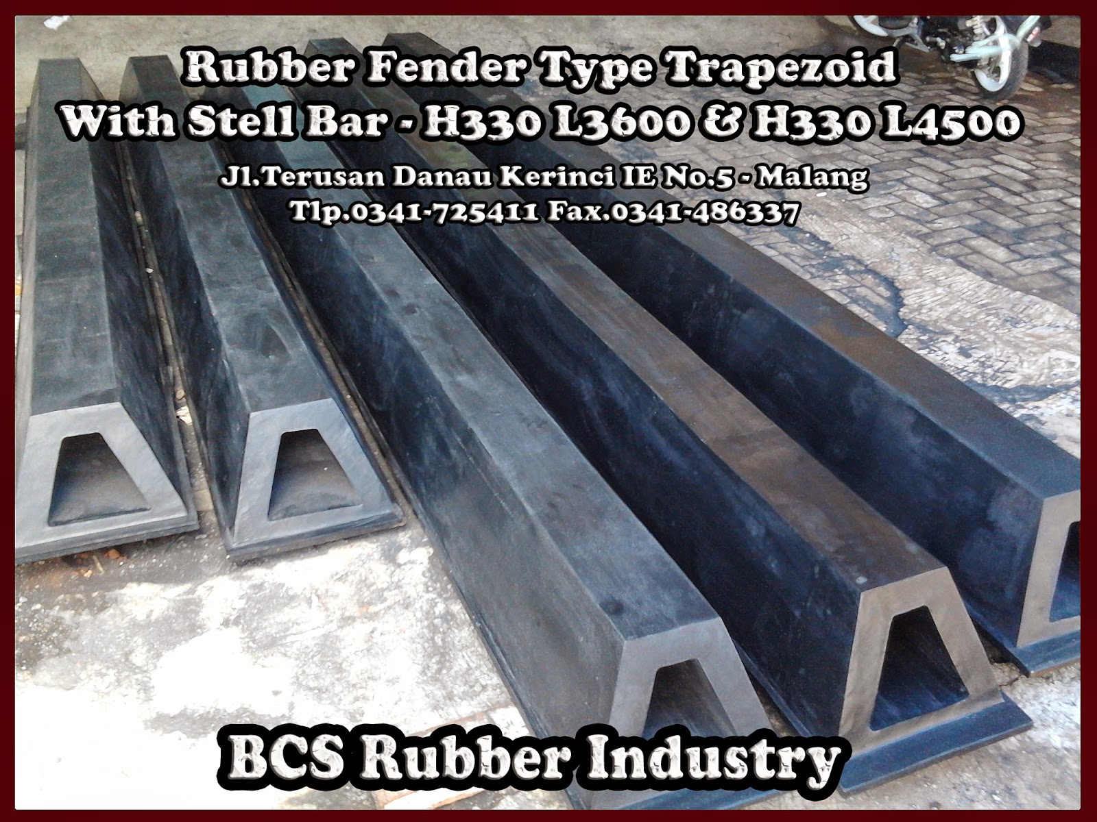 Gallery Product Rubber Fender Trapezoid- BCS Rubber Industry