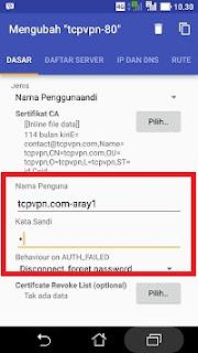 Cara menjalankan openvpn for android langkah 5