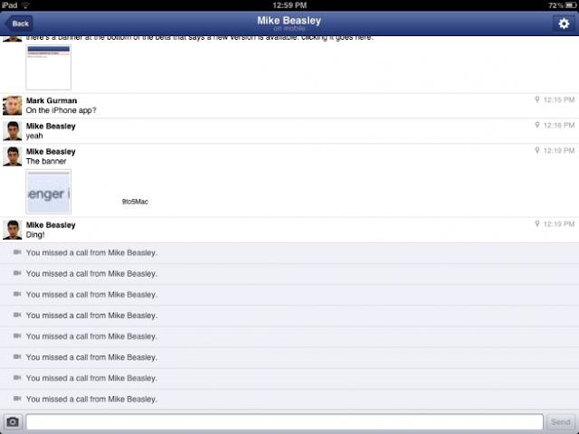 facebook messenger ipad 3
