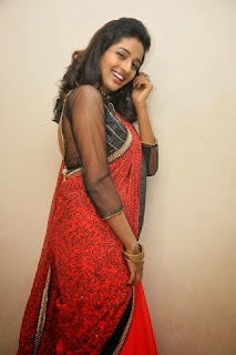 Actress Amitha Rao Pictures in Saree at Chandamama Kathalu Movie Press Meet 0055