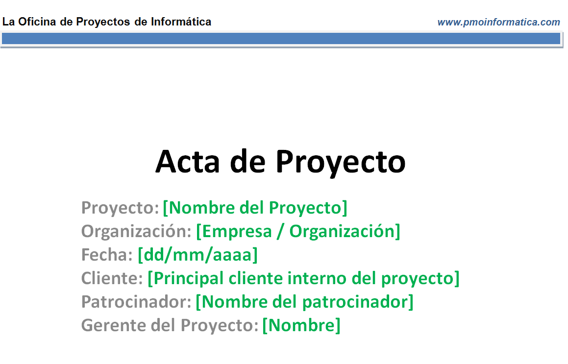Plantilla resumen de acta de proyecto (2 láminas) - La Oficina de ...