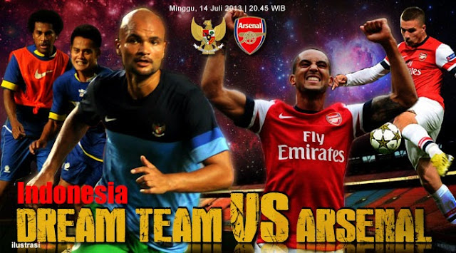 Hasil Skor Indonesia Dream Team vs Arsenal, Minggu 14 Juli 2013