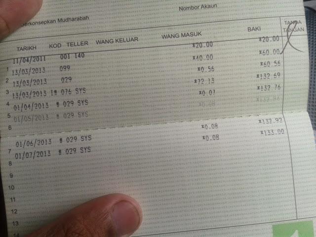 melabur di bank rakyat 2013
