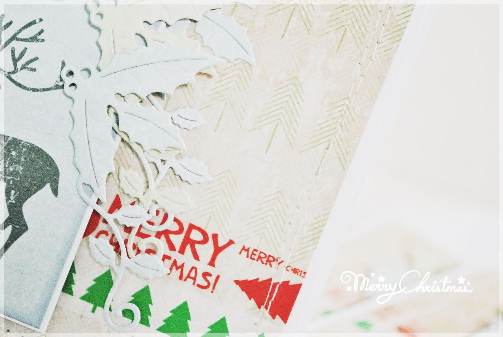 kartka świąteczna bożonarodzeniowa scrapbooking