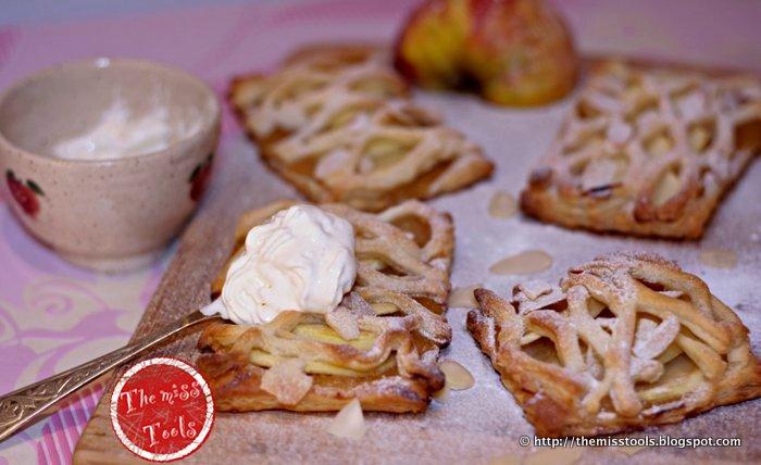dessert sprint: sfogliatine alla mela - apple puff pastry tarts