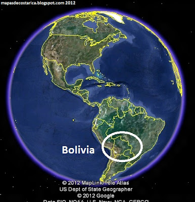 Bolivia en El Mundo, Google Earth