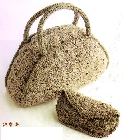 Bolsos cilindricos crochet patrones - Como hacer bolsos tejidos ...