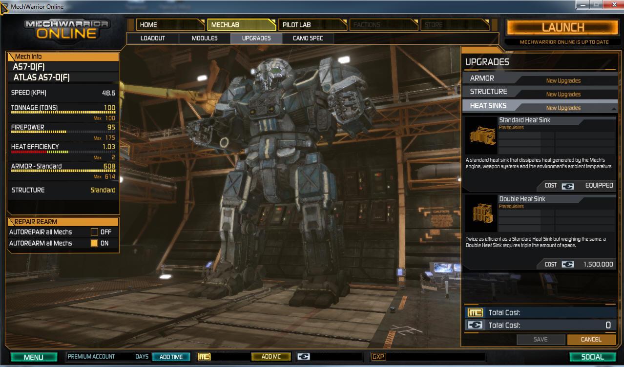 Mechwarrior online critical slots