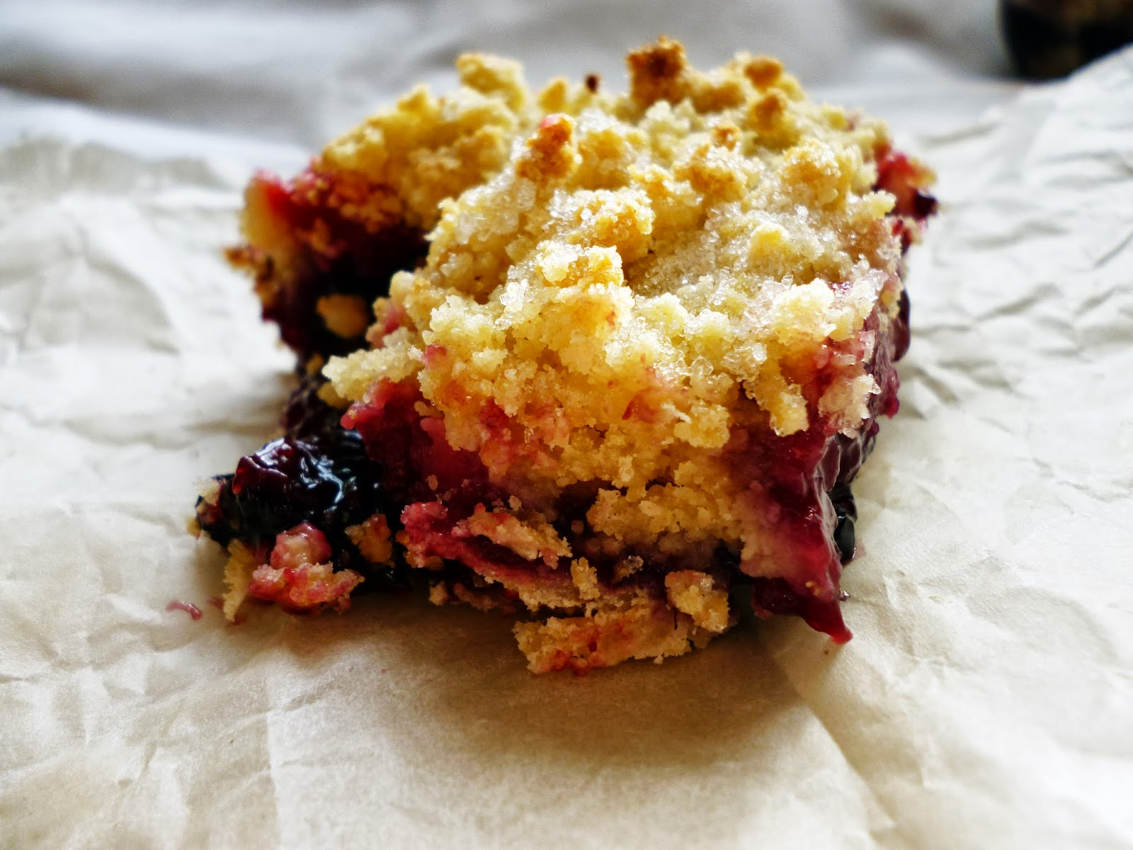 ... series of different types of crumble bars blueberry apple crumble bars