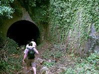 Entrant a la boca nord del túnel del Carrilet