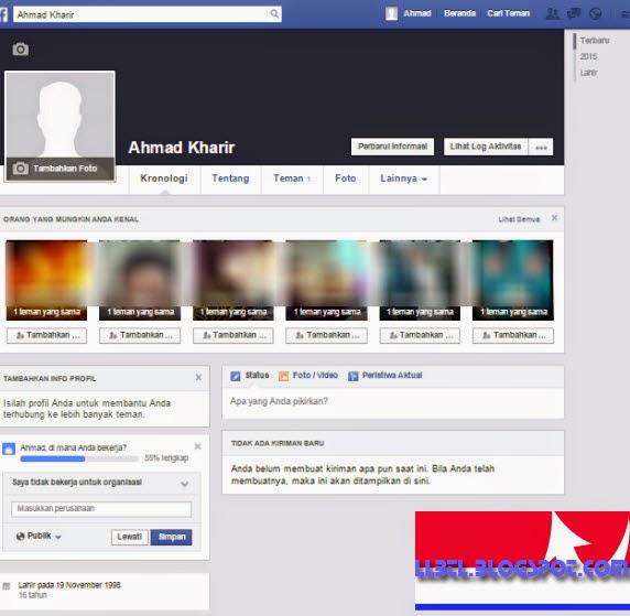 proses membuat facebook sudah selesai