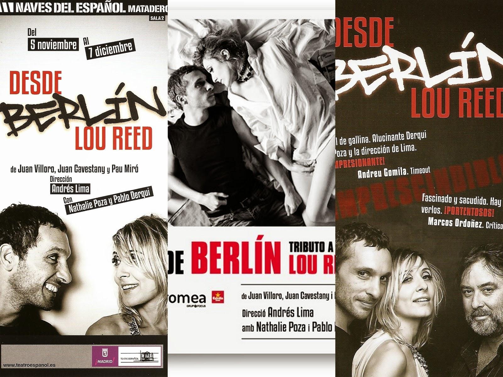 """Lou Reed, """"Berlín"""", """"Desde Berlín. Tributo a Lou Reed"""""""