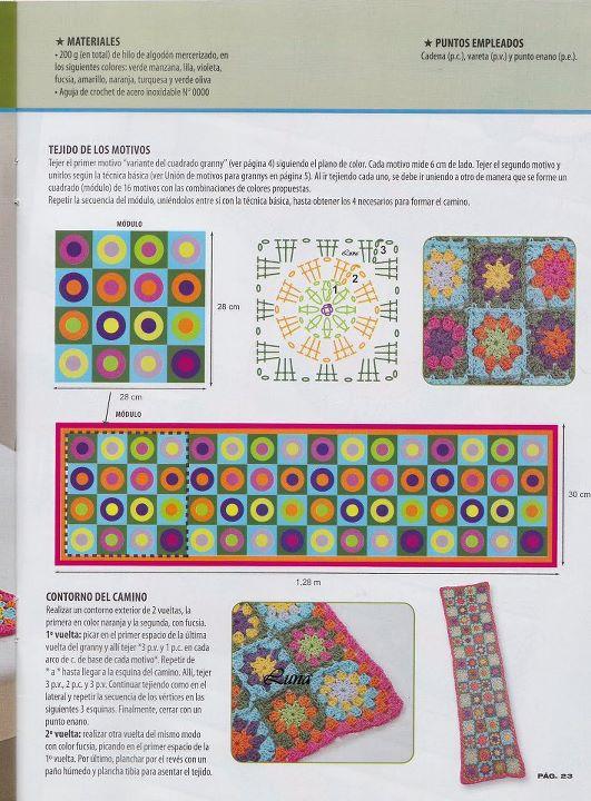 Una locura de ideas: Mantita y bufanda de cuadros de colores, paso a ...