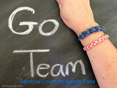 Sports Team Colored Rainbow Loom Bracelets