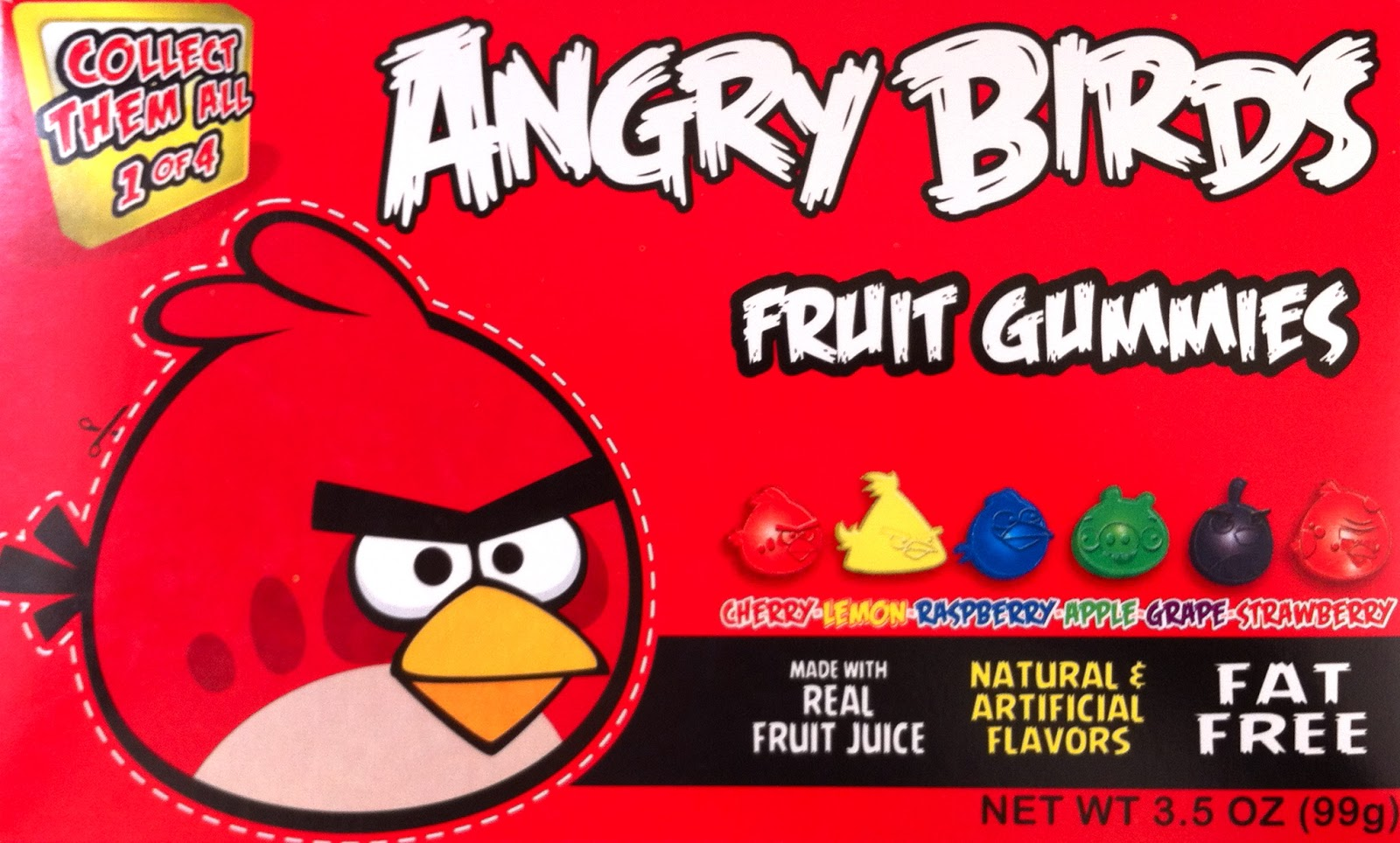 Obsessive Sweets Angry Birds Fruit Gummies Burnt Cinnamon Lemonhead Lip Smack Box Less About The Candy Product Than Tie In If Youre A Fan Of Collect Them All There Are Four Different Boxes Offered