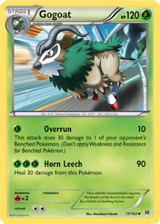 Gogoat BREAKthrough Pokemon Card