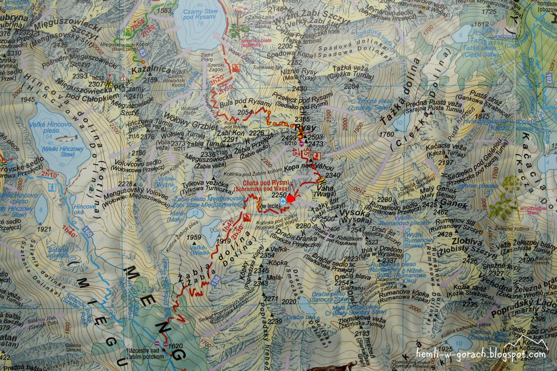 Chata pod Rysmi - mapa