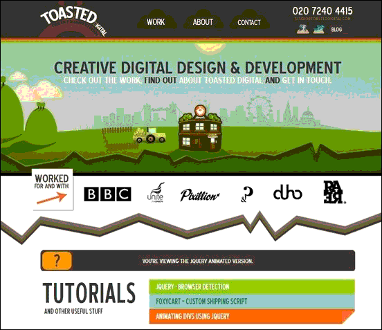Toasted Digital - Website design using drawings and illustration